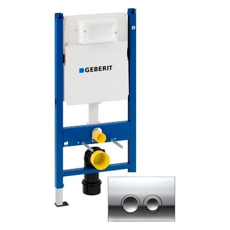 Система инсталляции для унитазов Geberit Duofix UP182 458.161.21.1 4 в 1 с кнопкой смыва