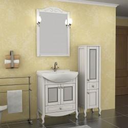 Зеркало Флоренция- 65 с полкой и  светильниками
