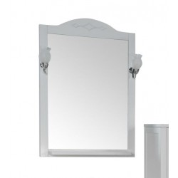 Зеркало Флоренция 65 с полкой и светильниками  витраж
