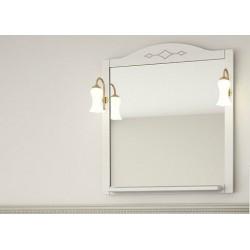 Зеркало Флоренция  Квадро-80 с полкой и  светильниками
