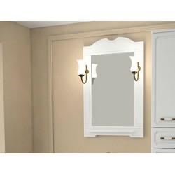 Зеркало Астра 65 НСВ Декор с полочкой и светильниками