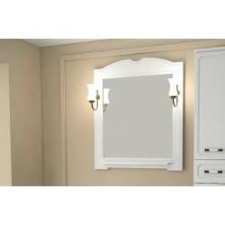 Зеркало Астра 85 НСВ Декор с полочкой и светильниками