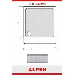 Душевой поддон из акрила Alpen A12-90