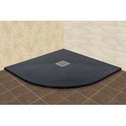 Душевой поддон полукруглый RGW Stone Tray серый