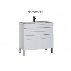 Тумба с раковиной Aquanet Верона 90 белая 1 ящик