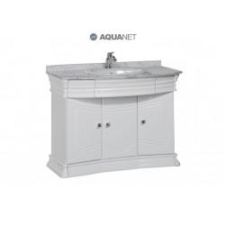 Тумба с раковиной Aquanet Греция 110 белая/ серая