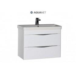 Тумба с раковиной Aquanet Орлеан 80 белая