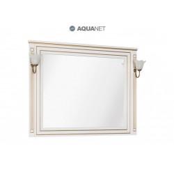 Зеркало Aquanet Паола 120 белый/золото