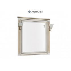 Зеркало Aquanet Паола 90 белый/золото