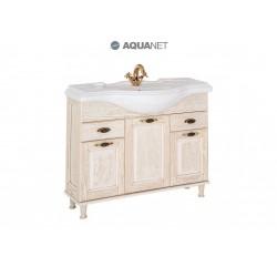 Тумба с раковиной Aquanet Тесса 105 жасмин/золото