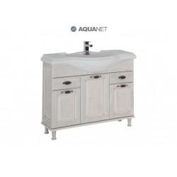 Тумба с раковиной Aquanet Тесса 105 жасмин/серебро