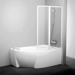 Шторка для ванной Ravak VSK2 Rosa 160 транспарент