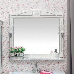 Зеркало Sanflor Адель 100 белый серебро