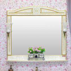 Зеркало Sanflor Адель 100 белый золото