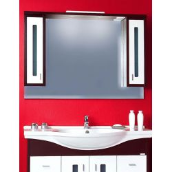Зеркало Бали 120 венге/белый глянец