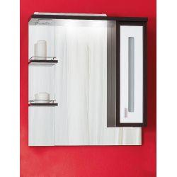 Зеркало Бали 75 венге/белый глянец