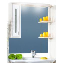 Зеркало Бали 90 светлая лиственница/белый глянец