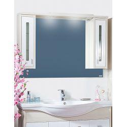 Зеркало Бали 120 светлая лиственница/белый глянец