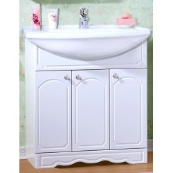 Тумба для ванной Лючия 80 белый глянец
