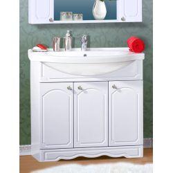 Тумба для ванной Лючия 90 белый глянец