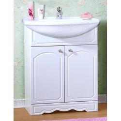 Тумба для ванной Лючия 70 белый глянец
