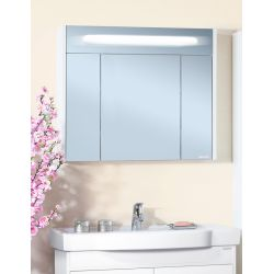 Зеркало для ванной Палермо 90 белый глянец