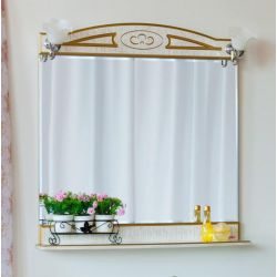 Зеркало Sanflor Адель 82 белый золото