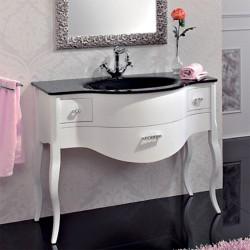 Тумба с раковиной Cezares Lady bianco perla frassinato nero