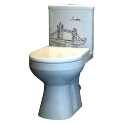 Унитаз-компакт Оскольская керамика Лорена Тауэр 439873 микролифт