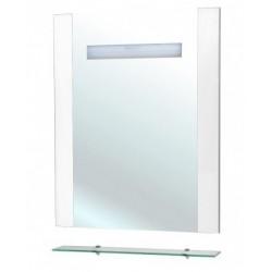 Зеркало Беллезза Берта 75 белое с полкой свет