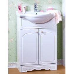 Тумба для ванной Лючия 60 белый глянец