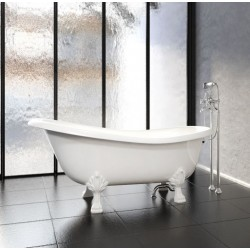 Ванны из литьевого мрамора Астра-Форм Роксбург 171 на 79 белые ноги