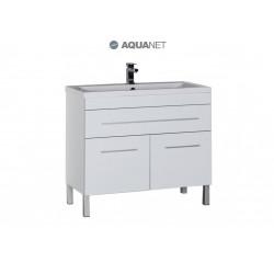 Тумба с раковиной Aquanet Верона 100 белая 1 ящик