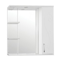 Зеркальный шкаф Style Line Фьюжн Панда 75
