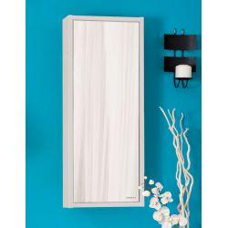 Зеркало Бали 40 светлая лиственница/белый глянец