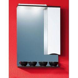 Зеркало для ванной Токио 60 венге/белый глянец