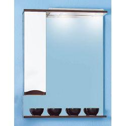 Зеркало для ванной Токио 70 венге/белый глянец