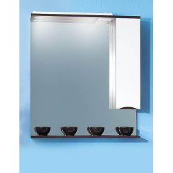 Зеркало для ванной Токио 80 венге/белый глянец
