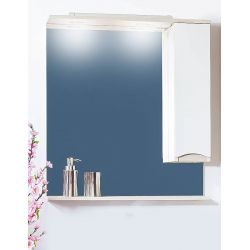Зеркало для ванной Токио 80 светлая лиственница/белый глянец