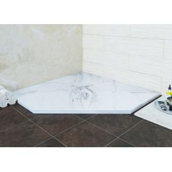 Душевой поддон трапеция RGW Stone Tray мрамор